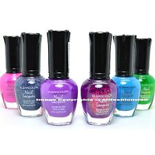 KLEANCOLOR 6 MIX COLORS NEON HOLO CHUNKY PINK NAIL POLISH LACQUER KMIX02