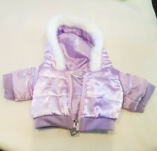 "Build A Bear/Factory teddy NEW fit 16"" teddy purple coat,padded jacket with hood"
