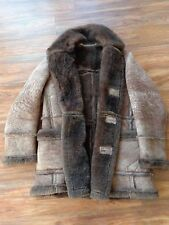 Men's Genuine Shearling Coat XL MacMor leather Fur Suede overcoat jacket