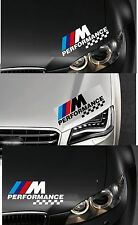 For BMW - PERFORMANCE HEADLIGHT CHECKS - CAR DECAL STICKER  - 300mm long