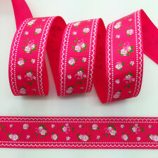 NEW~ 5 Yards 1Inch 25mm Wide Printed Grosgrain Ribbon Hair Bow DIY Sewing #B119