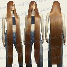 150cm Light Brown Heat Styleable Extra Long Cosplay Wigs 81_LLB