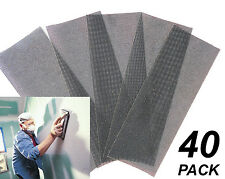40 Pack Assorted Gyprock / Plaster Sanding Screens 115 x 280mm