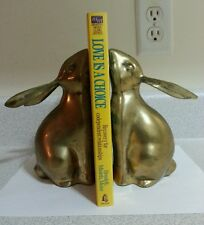 Pair Of Vintage Solid Brass Rabbit Bunny Bookends