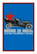 Cuban film Graphic Design movie Poster.Mission KABUL,Afghanistan.decor art