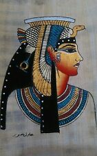"Egyptian papyrus ""Queen Cleopatra """" handmade painted 16 x12 Cm see Description"