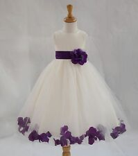 ROSE PETALS Flower Girl Dress Wedding Bridesmaid Birthday Pageant Formal Toddler
