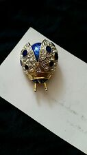 CABOUCHON BLUE BUG BROOCH