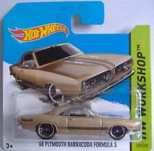 HotWheels (2014)'68 PLYMOUTH BARRACUDA FORMULA S - #239 - 1/64 - Hw Workshop