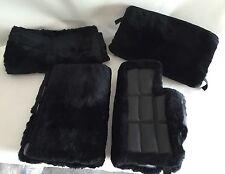New! Bentley 2006 Arnage ROLLS ROYCE Morlands Lambs Wool Floor Mats 4 pc. Black