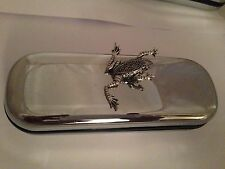 C11 Leaping Frog  Motif On a Chrome Glasses Case