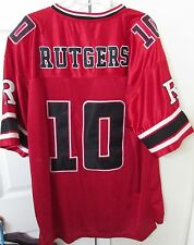 Rutgers Scarlet Knights NCAA Red #10 Football Jersey by Colosseum XL EUC