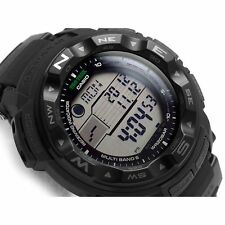 "-NEW- Casio ProTrek ""Black"" Atomic & Solar PRW2500-1A Watch"