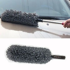 Round Car Cleaning Wash Brush Dusting Tool Large Microfiber Telescoping Duster