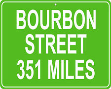 Bourbon Street New Orleans, LA mileage sign - distance to your house