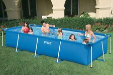 INTEX Famille Rectangulaire piscine. 450X220X84 Cm . 28273+ Filtre à sable 4 m³