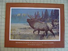 12 REMINGTON'S PORTFOLIO OF BIG GAME OF NORTH AMERICA PICTURES ARTIST BOB KUHN
