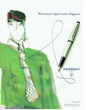 PUBLICITE ADVERTISING 115  2006  Waterman   Stylo plume Expert
