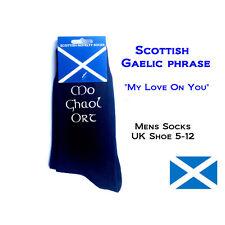 Gaelico scozzese celtico Calzini IL MIO AMORE PER TE marito regalo di Natale Regalo Di Compleanno