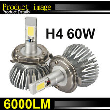 60W H4 LED Light Headlight Car Hi/Lo White Beam 6000k Bulb Kit 6000LM NEW