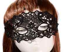 Black Lace Cut-out flower Masquerade Eye Masks Halloween, Fancy Dress Party