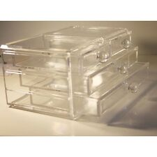New Big Clear Acrylic Cosmetic Jewellery Makeup Organiser Box Storage 4 Drawer