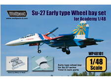 Wolfpack Design 1/48 WP48101 Su-27 Flanker Early type wheel bay set for Academy