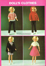 "10 -12""  Dolls clothes knitting pattern .Laminated  copy.( V Doll 158)"