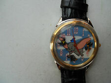 DISNEY VINTAGE DUMBO MEN'S LEATHER WATCH LIMITED EDITION 4239/7500.