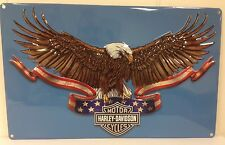 Ande Rooney HARLEY DAVIDSON EAGLE BANNER Tin HD Motorcycle Garage Man Cave Sign