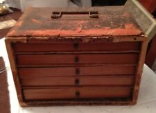 Antique Chinese Mahjong Set With Leather Wrapped Carrying Case Very Unique Piece