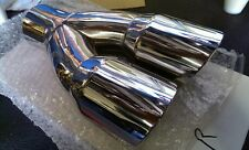 BMW Dual Staggered Exhaust Tips Muffler Delete