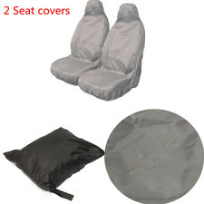 2pcs Universal Car Van Waterproof Nylon Front Heavy Duty Seat Covers Protectors
