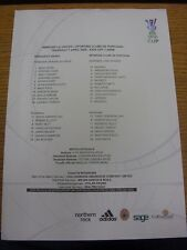 07/04/2005 Color teamsheet: Newcastle United v Sporting Lisboa [UEFA Cup]. Trus