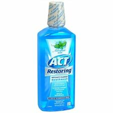 ACT Restoring Anticavity Fluoride Mouthwash Cool Splash Mint 18 oz (Pack of 4)