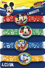 MICKEY MOUSE Roadster Racers RUBBER BRACELETS (4) ~ Birthday Party Supplies Boy