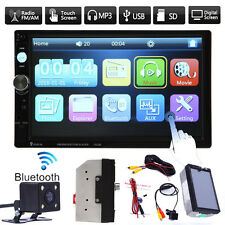 "7"" Double 2DIN HD in Dash Car Stereo Radio Touch MP3 MP5 Player Bluetooth+Camera"