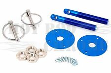 Universal Aluminum Hood Pin Kit Anodized Blue Chevy Ford Mopar