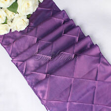 Taffeta Pintuck Table Runner Wedding Party Banquet Decoration Tablecloth 12x108""
