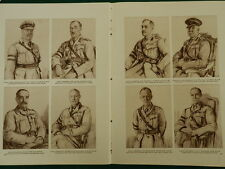 WW1 BRITISH ARMY AND ROYAL NAVY COMMANDERS, PLUMER, HALDANE, BURNEY DOUBLE PAGE