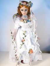 "HERITAGE SIGNATURE COLLECTION 18"" PORCELAIN BUTTERFLY DOLL"