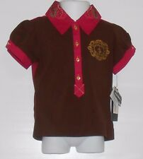 Baby Phat Girls Short Sleeve Graphic Top Polo Truffle Four (4) NWT