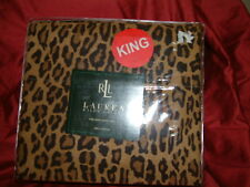 RALPH LAUREN  ARAGON LEOPARD  4 PC  KING SHEET SET  KING PILLOWCASES