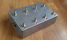 Programable 7 Looper Con Amplificador conmutador de canal-Loop Pedal True Bypass Aluminio