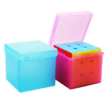 3x3 57mm Transparent Magic Cube Holder Outer Packing Plastic Puzzle Saving Box