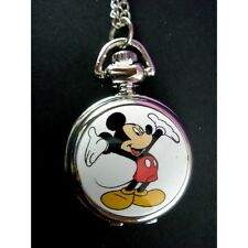 CUTE Mickey Mouse Child Women Girl Boy Fashion Pocket Pendant Watch Necklace