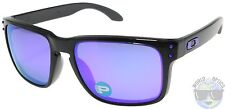 Oakley Holbrook Sunglasses OO9102-67 Black Ink | Violet Iridium Polarized | NIB