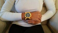 Invicta 17642 Coalition Forces 51mm Chron Retro Day Gld-Blk Dial Bracelet Watch