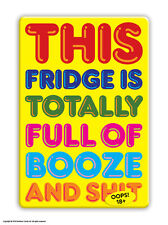 Brainbox Candy Booze & Sh*t fridge magnet funny rude cheap gift birthday present