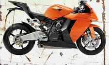 KTM 1190 RC8 2008 Aged Vintage Photo Print A4 Retro poster